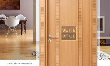 Office Doors Motif Teak Office Door